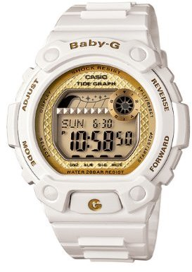baby g shock watches shopstyle casio women s blx100 7b baby g shock resistant glide white multi function watch