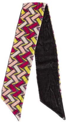 Diane von Furstenberg Pattern Velvet Scarf $45 thestylecure.com