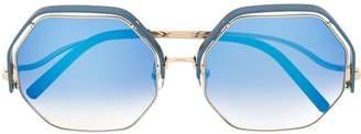 Linda Farrow Gallery x Mathew Williamson oversized sunglasses