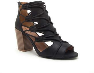 Qupid Womens Clyde-35x Booties Stacked Heel Zip