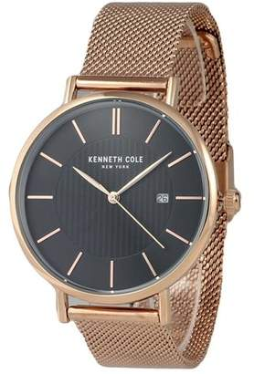 Kenneth Cole New York Kenneth Cole Rose Gold-Tone Mens Watch KC50037009