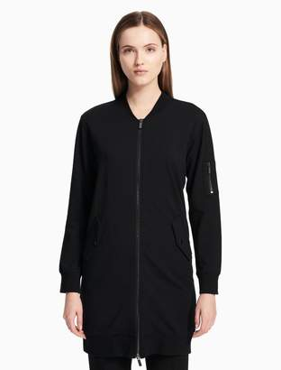 Calvin Klein long zip front jacket