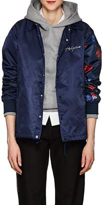 Yohji Yamamoto Regulation Women's Rose-Print Tech-Fabric Jacket