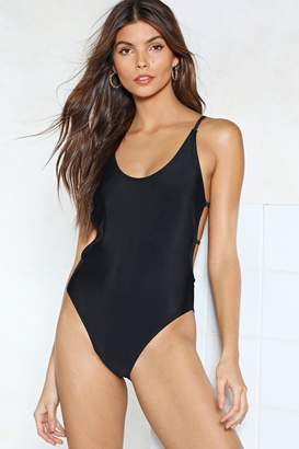 Nasty Gal Back in the Game Strappy Swimsuit