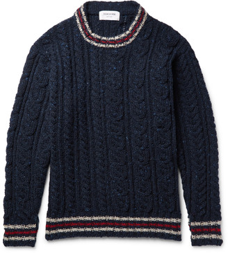 Fun Mix Cable-Knit Wool Sweater $450 thestylecure.com