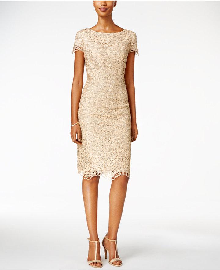 Alex EveningsAlex Evenings Petite Lace Sheath Dress