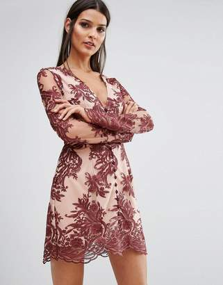 Finders Keepers Finders Spectral Lace Long Sleeve Dress