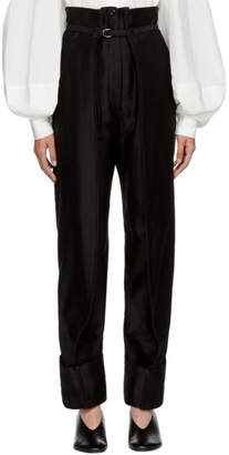 Lemaire Black Cargo Trousers