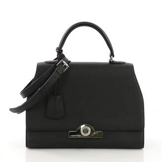 Moynat Paris Black Leather Handbag