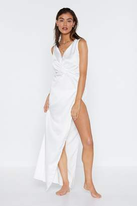 Nasty Gal Forget You Knot Maxi Dress