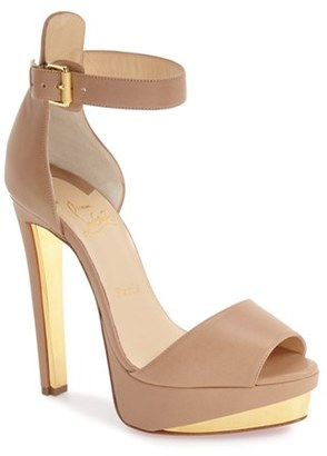 Christian Louboutin 'Tuctopen' d'Orsay Platform Sandal $1,095 thestylecure.com