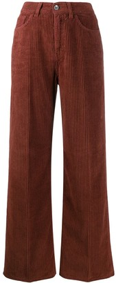 Haikure corduroy wide leg trousers