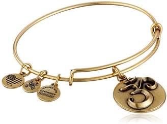 Alex and Ani Om Expandable Charm Bracelet, Rafaelian Gold-Tone