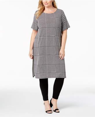 Calvin Klein Plus Size Printed Short-Sleeve Tunic