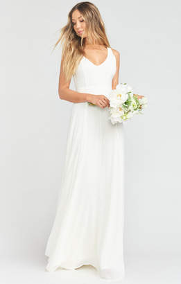 Show Me Your Mumu Jenn Maxi Dress ~ Wedding Cake Chiffon