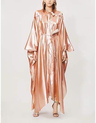 Roland Mouret Casilda metallic silk-blend gown