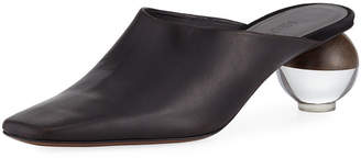 Neous Leather Mule with Cylinder Heel