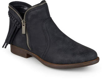 d275e394fbab at JCPenney · Journee Collection Fringe Womens Ankle Boots