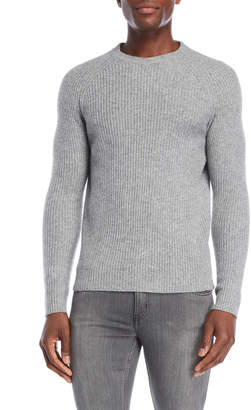 Lincs Grey Raglan Wool Sweater