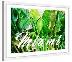 Marmont Hill Miami Green Framed Painting Print