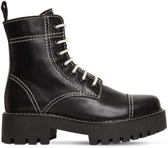 ALEXACHUNG 30mm Military Leather Boots
