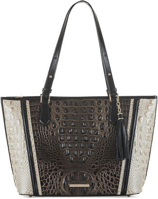 Brahmin Asher Crestview Embossed Leather Tote