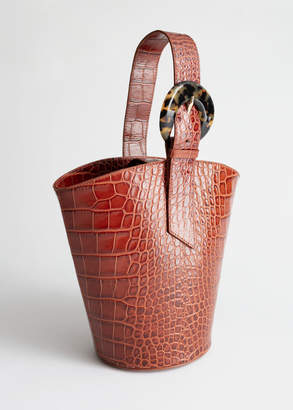 And other stories Croc Tortoise Buckle Bucket Bag