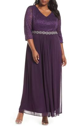 Alex Evenings Embellished Waist Gown