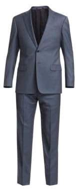 Emporio Armani Two-Piece Wool Mini Neat Suit