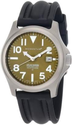 Momentum Men's 1M-SP00G1 Atlas Dial Black SLK Rubber Watch