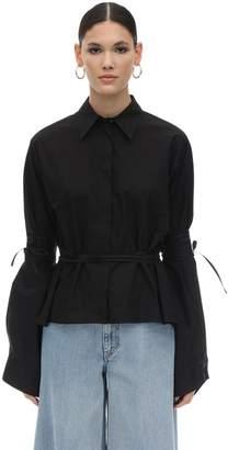 MM6 MAISON MARGIELA Oversize Boxy Fit Cotton Shirt