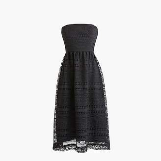 J.Crew Petite strapless dress in mixed lace