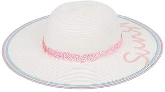 Monsoon Girls Sunshine Irridescent Floppy Hat