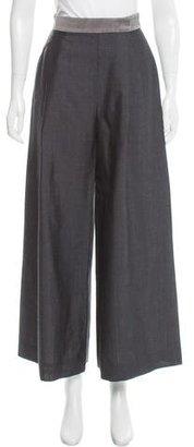 Thom Browne High-Rise Wide-Leg Wool Culottes $350 thestylecure.com