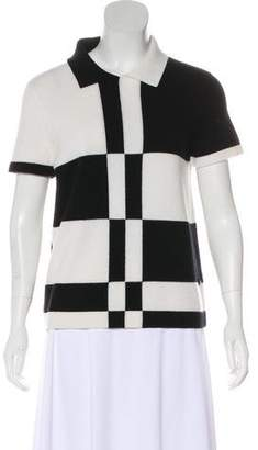 Chanel Cashmere Colorblock Top