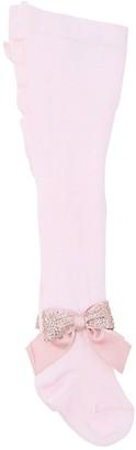 La Perla Cotton Knit Tights W/ Bow