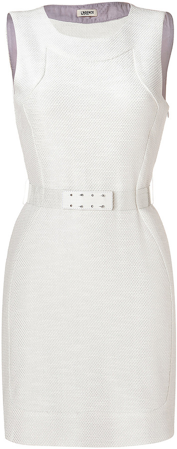 L'Agence LAgence Shirttail Dress in White