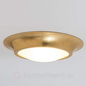 Goldene Keramik-Deckenleuchte Spettacolo
