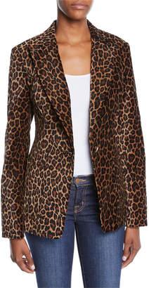 A.L.C. Mercer Leopard-Print Tailored Jacket
