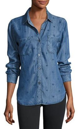 Rails Carter Denim Star-Print Shirt, Indigo $148 thestylecure.com