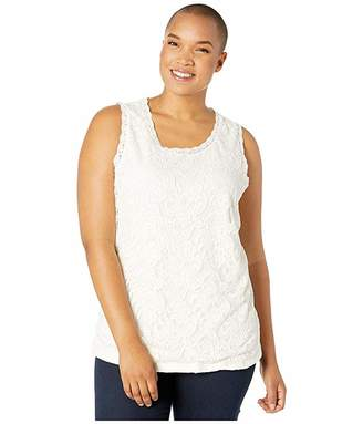 Junarose Plus Size Emma Rib Sleeveless Top