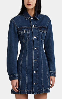 Helmut Lang Women's Denim Mini-Shirtdress - Md. Blue