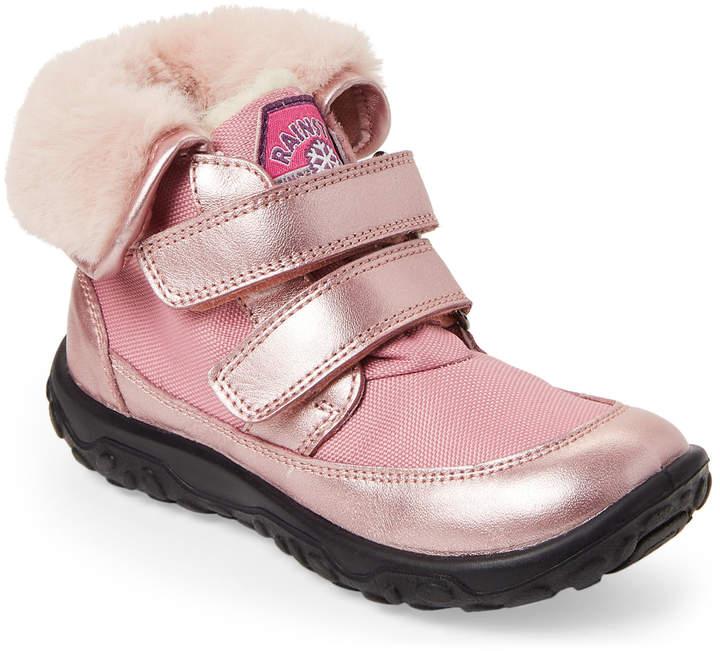Naturino (Toddler Girls) Pink Peace Metallic Faux Fur Boots