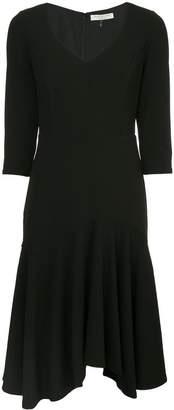 Halston pleated skirt dress