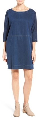 Women's Eileen Fisher Denim Shift Dress $238 thestylecure.com