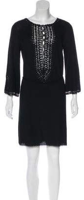 Diane von Furstenberg Lulu Long Sleeve Knit Mini Dress