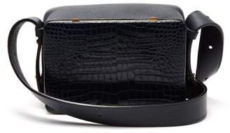 Lutz Morris - Maya Crocodile Effect Leather Shoulder Bag - Womens - Navy