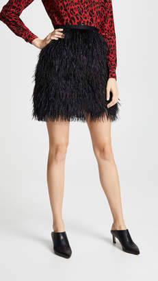 Robert Rodriguez Ostrich Skirt