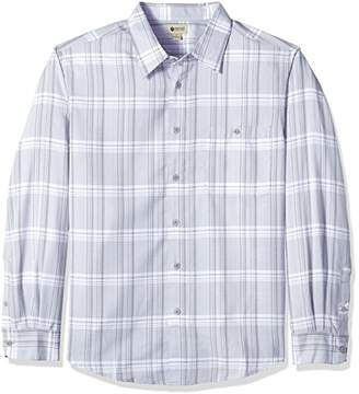 Haggar Men's Big&Tall Long Sleeve Microfiber Woven Shirt