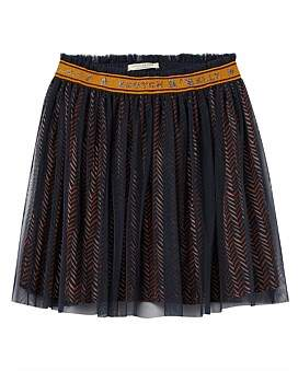 Scotch R'Belle Elasticated Tulle Skirt With All Over Print